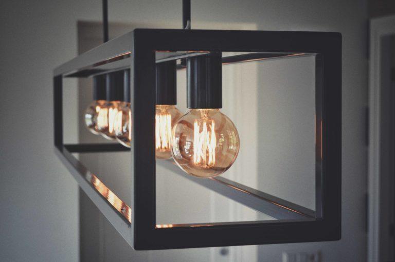 Hanglamp, staal, lichtbol