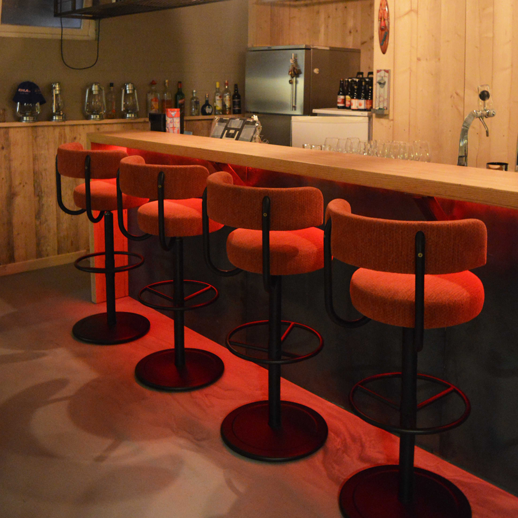 Bar Staal Blauwstaal Hout